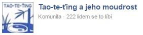 Facebooková strana o Tao-te-ťingu